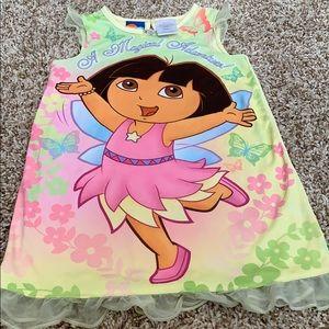 Nickelodeon Pajamas - NickJr. Dora & Disney Tinker-bell Nightgowns
